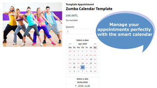 Smart calendar perfectly manages your appointments.