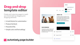 Edit your page easily with an intuitive drag and drop editor.