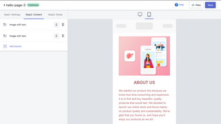 Edit your page easily.