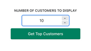 Selection of how many rows you want to display.