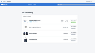SwagUp - Shopify App Inventory Page