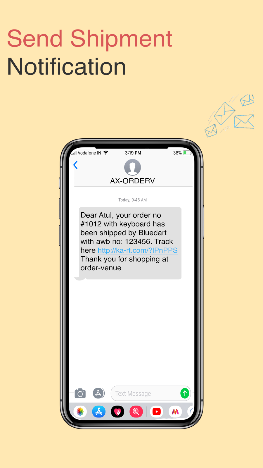 SMS Shipment Notifications