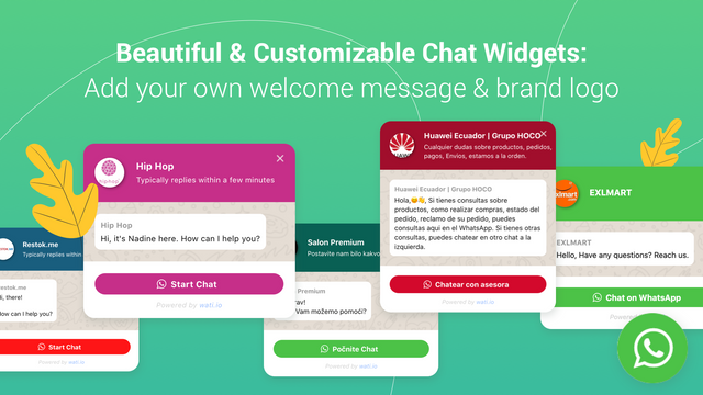 Beautiful & Customizable WhatsApp Chat Widgets for your Store