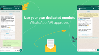 Dedicated WhatsApp API Approved Number to send notifications