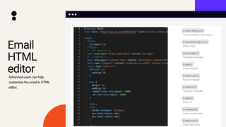 HTML email editor