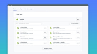 Build custom workflows with our point-and-click setup