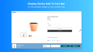 Display Sticky Add To Cart Bar on the product page