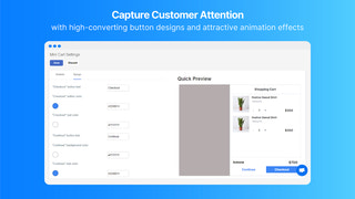 Capture customer attention with attractive designs and animation