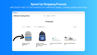 Speed up shopping process with quick add to cart button