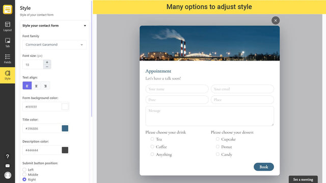 Contact us form on Shopify theme