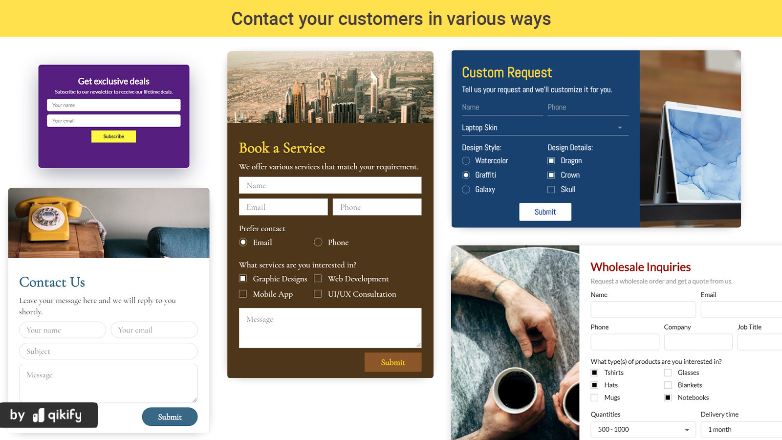 stylish contact form template