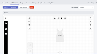 Customize the UI & Layout of the Product Designer.