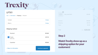 Trexity as a shipping option in Shopify