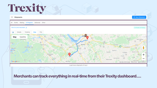 Real-time mapped view of Trexity driver