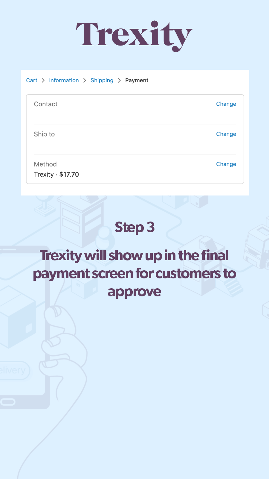 Payment confirmation