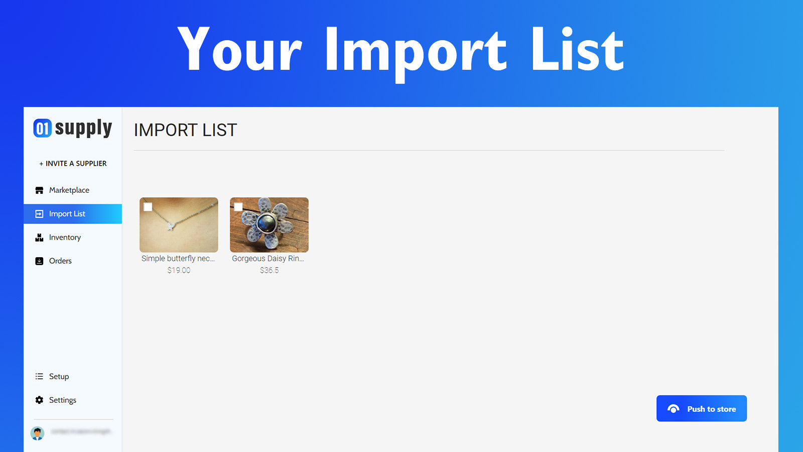 Your import list