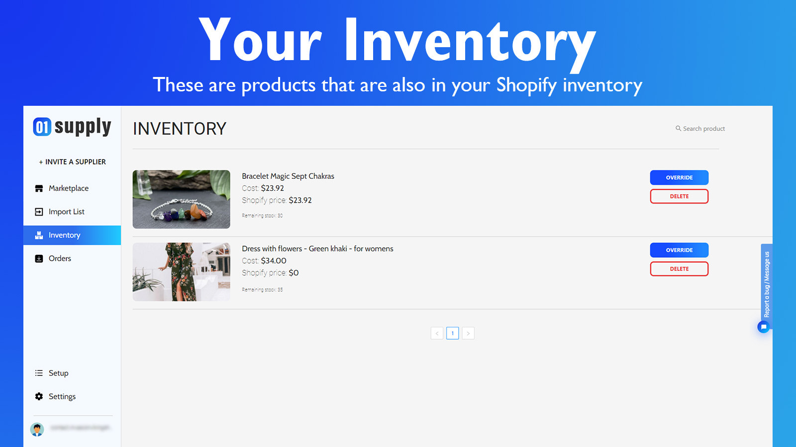 Your inventory