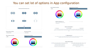 You can set lot of options in app configuration