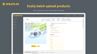 Easily batch upload products