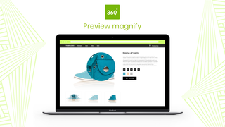 Magnify product spin on click