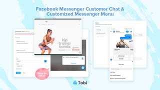 Facebook customer chat and customised menu for Shopify stores