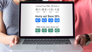 Different designs of Countdown Timer Ultimate KILATECH
