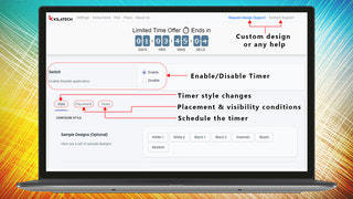 Overall Product Timer Options  Countdown Timer Ultimate KILATECH