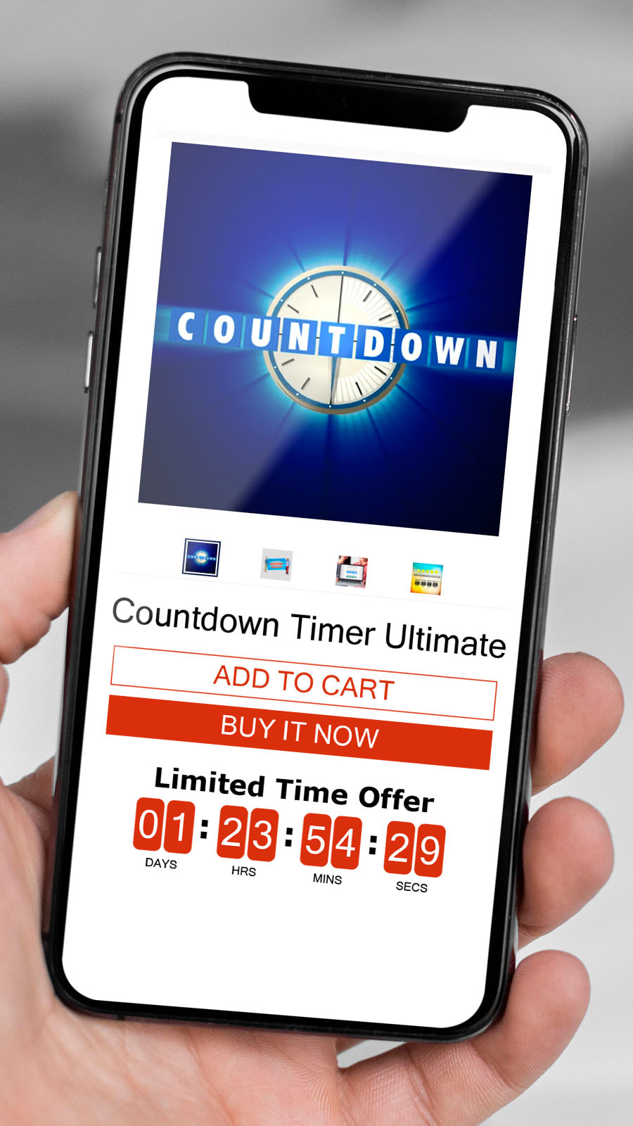 Countdown Timer Ultimate KILATECH Mobile view of a product page