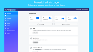 Powerful admin page