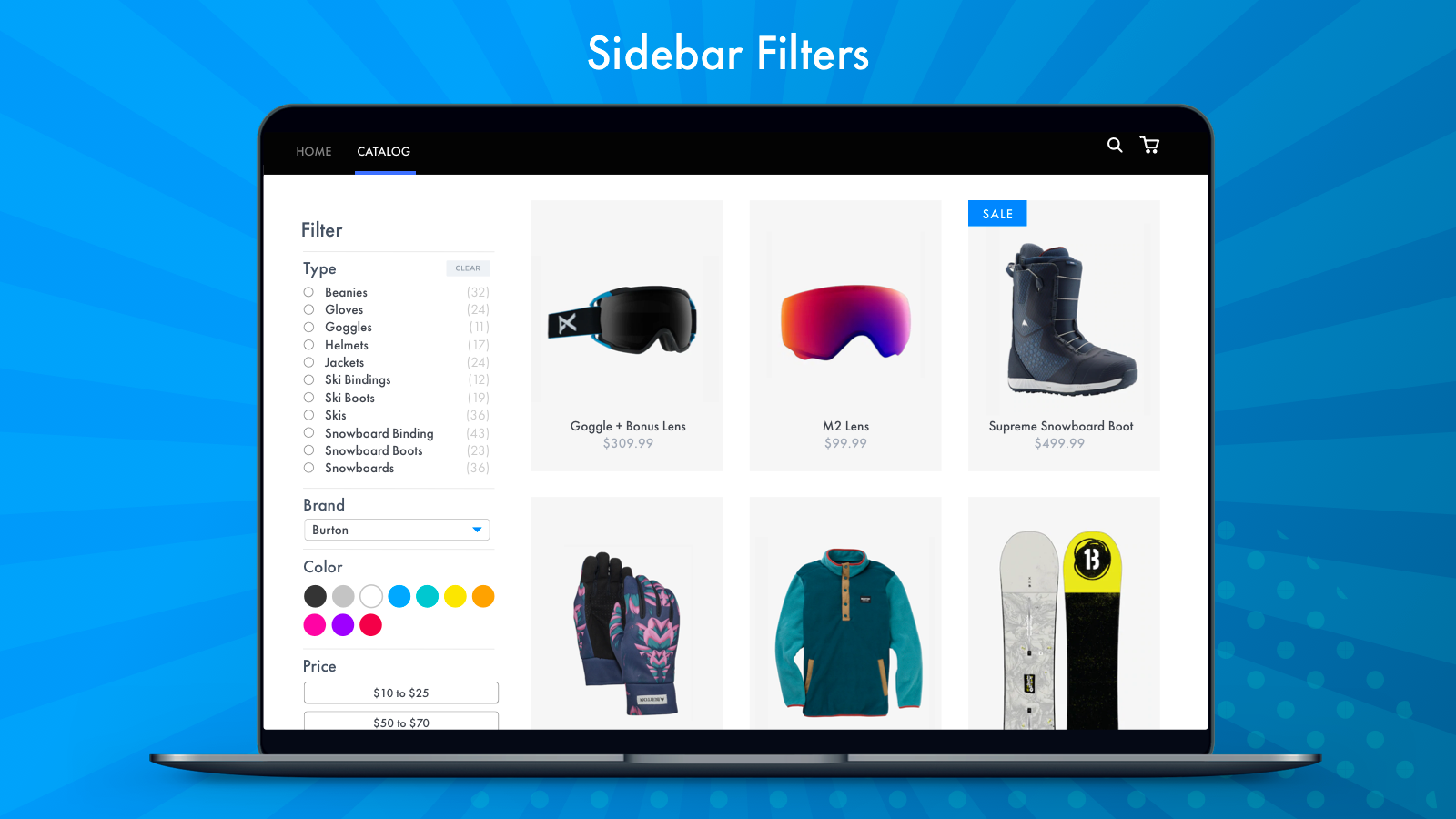Sidebar Collection Filtering