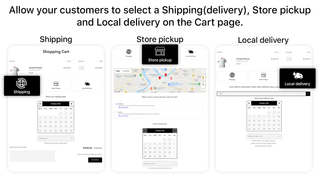 shipping - store pickup - local delivery