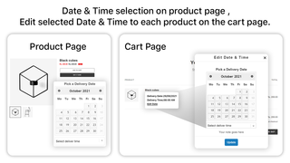 product calendar - available delivery rules