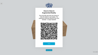 Customers can easily enter the AR experience via a QR code