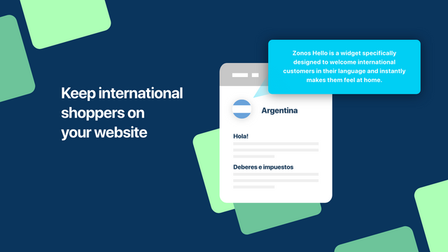 Keep international shoppers on your website