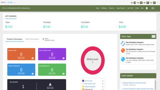 Dashboard of App, Shopify Plus