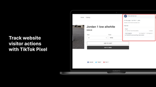 Track website visitor actions with TikTok Pixel