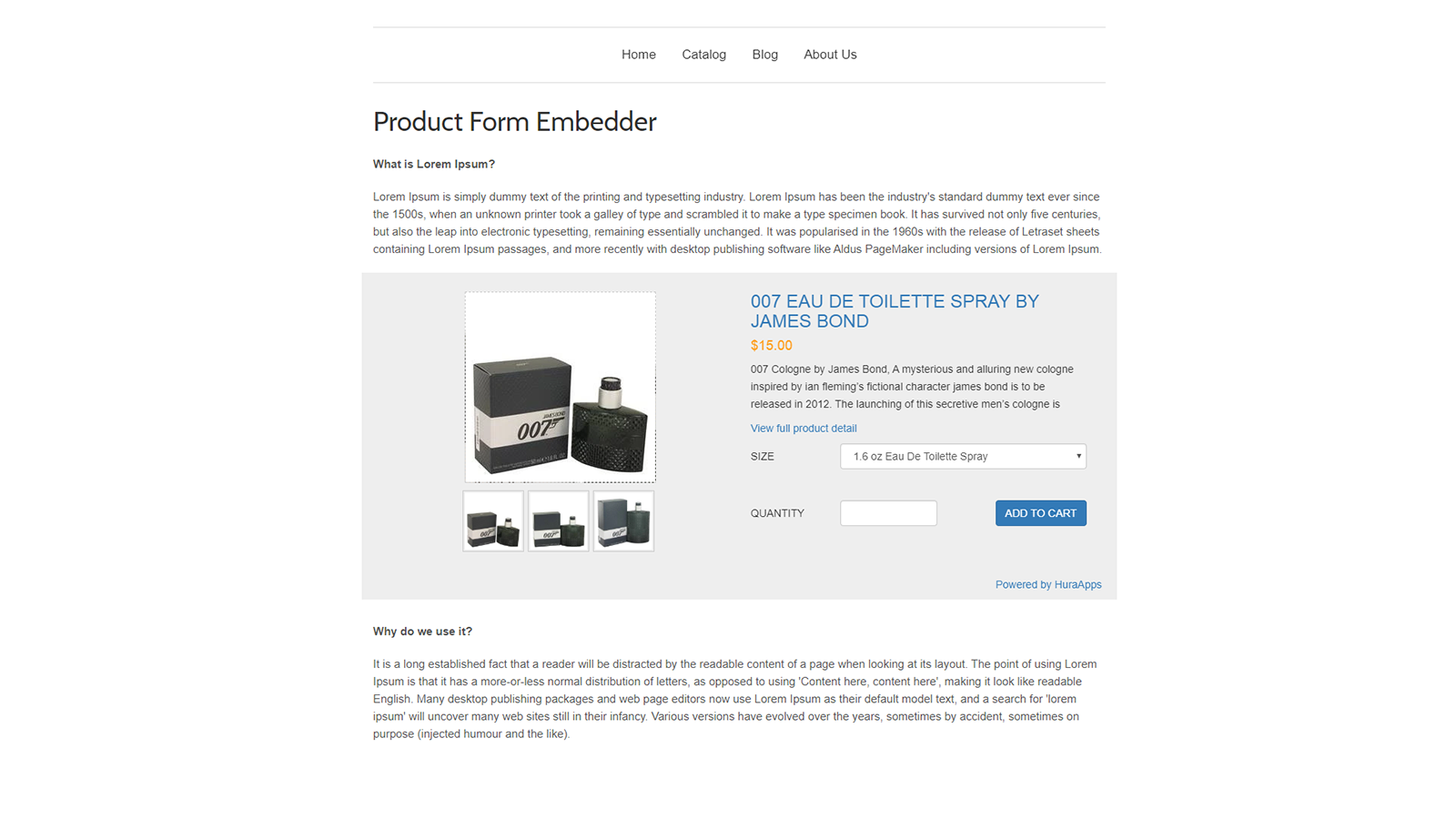 Product Form with Gallery Image