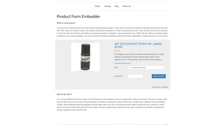 Product Form with Single Image