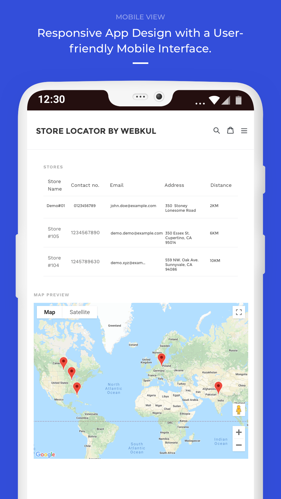 map view - mobile