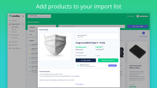 Add products to your import list