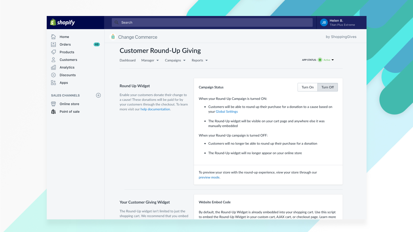 6-Change Commerce - Customer Round-Up Giving