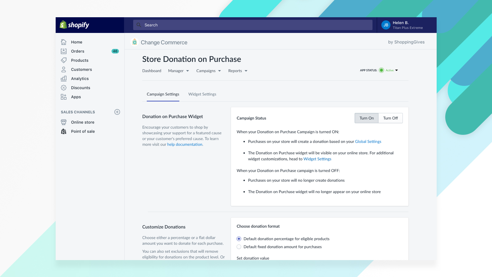 5-Change Commerce - Store Donation on Purchase
