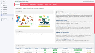 E-Commerce Image Editing - Dashboard
