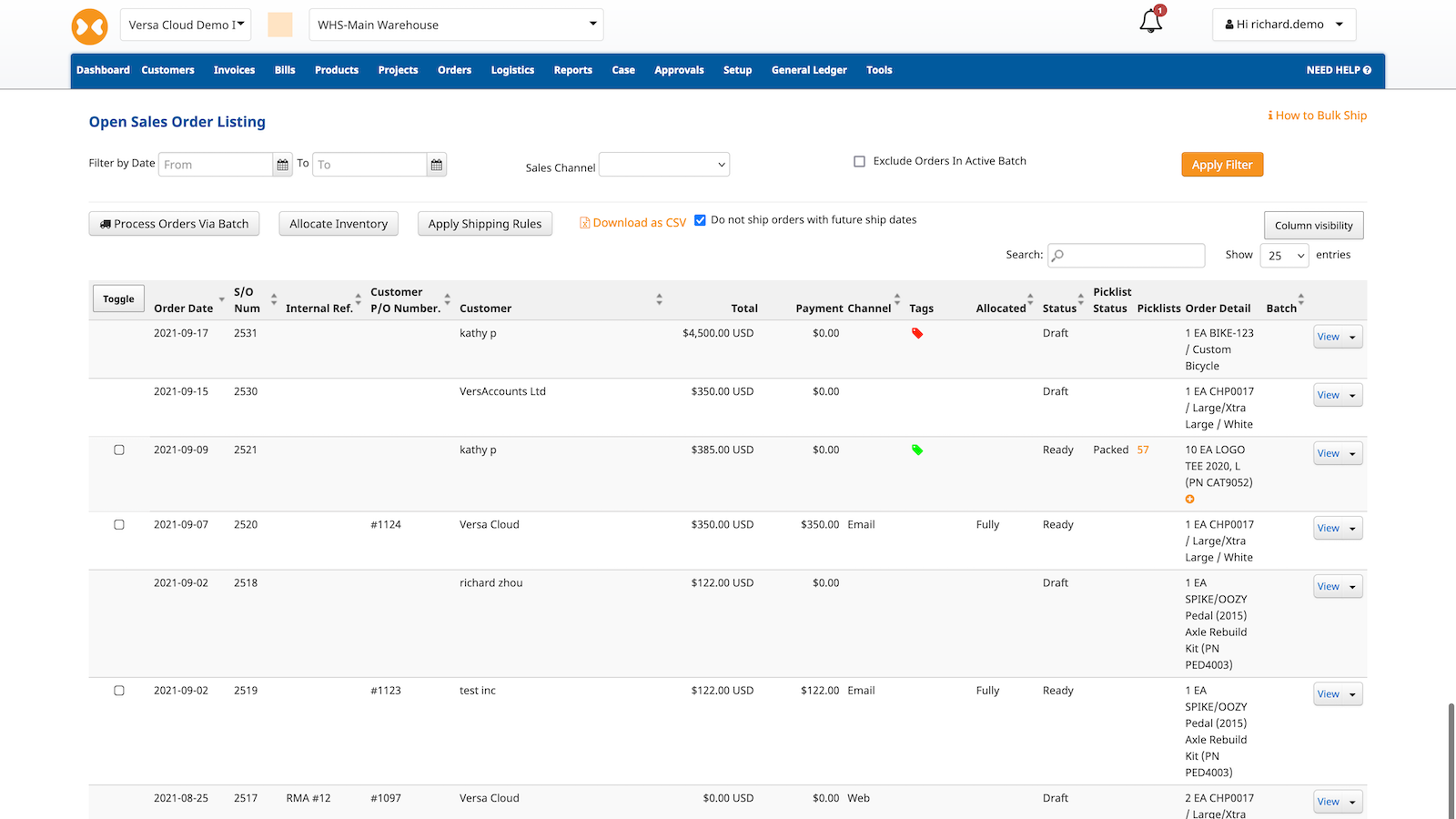 Open Sales Orders. Check Order Status. Assign Tags and more.