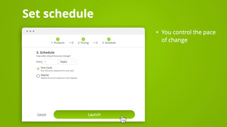Set your schedule for pricing operations