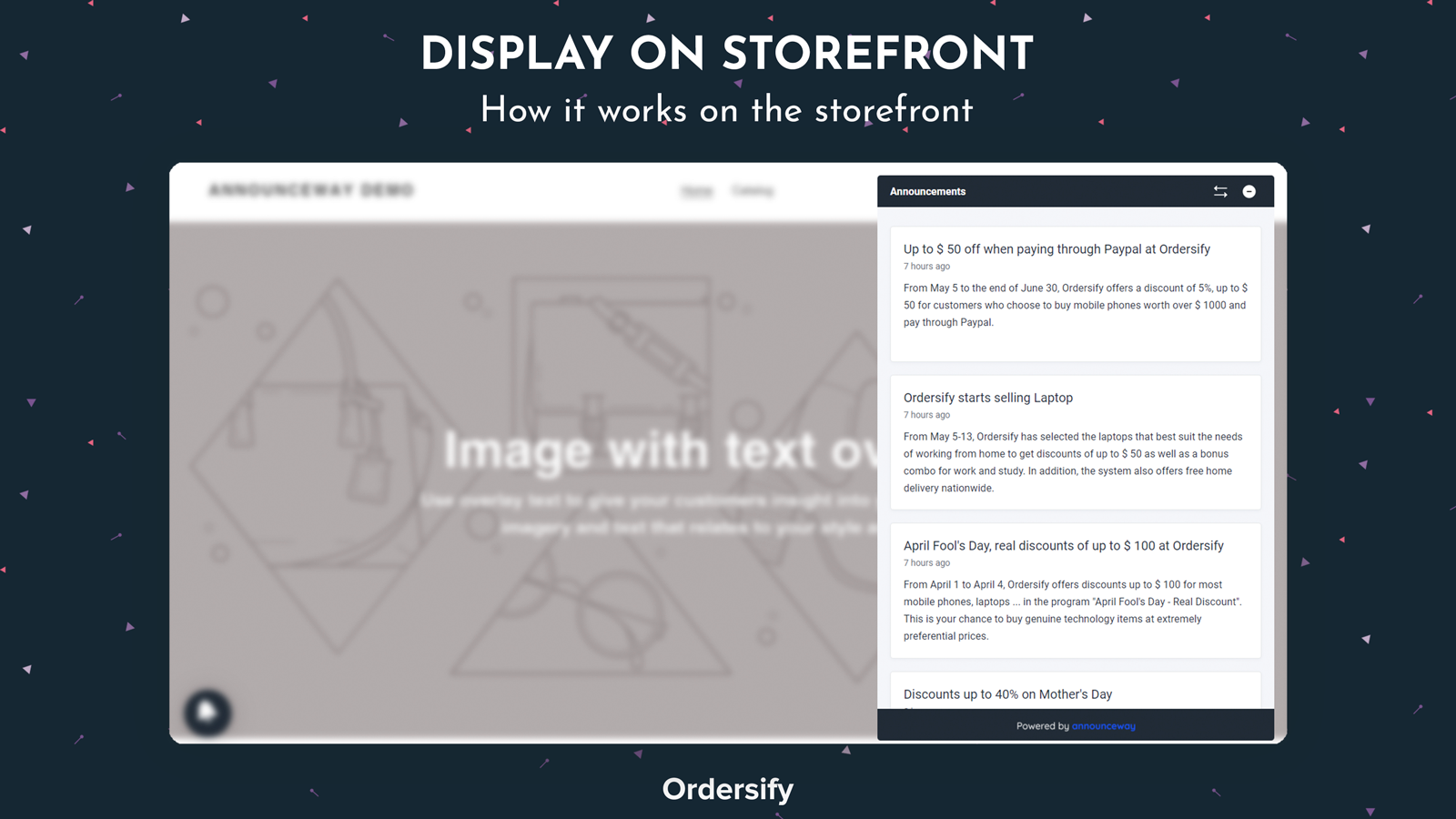Display on storefront