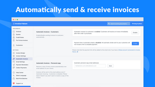 Automatically send & receive invoices