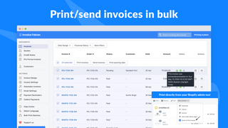 Print & send invoices in bulk