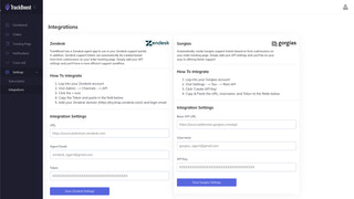Integration with Zendesk and Gorgias