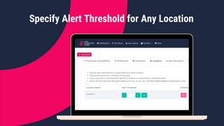 Specify Alert Threshold for Any Location